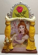 Disney Parks Belle Signed Stain Glass Rose 3-D Lumiere Picture Frame NEW TAGS