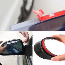 2x Universal Car Rear View Side Mirror Rain Board Black Sun Visor Shade Shield