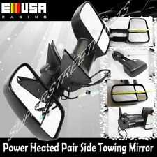 Pair Black Side View Mirrors Power Heated for Chevy 03-06 Silverado 1500 2500