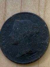 EAST INDIA COMPANY 1845 VICTORIA QUEEN ONE CENT RARE COPPER COIN