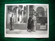 1895 - Torquato Tasso convento Sant'Onofrio, quadro di Busi + Ritratto di Tasso
