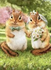Chipmunk Bride And Groom Funny Wedding Card - Greeting Card by Avanti Press