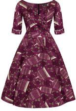 Bnwt Rare Dahlia Birdcage Kiki Dress Lady Vintsge London 50s Wrap Style Sz12