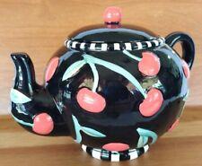 New listing Mary Engelbreit 1995 Cherry Teapot Sugar Jar