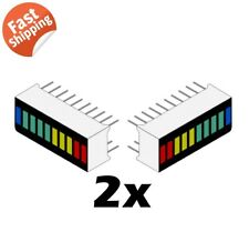 2 x 10 Segment LED Bargraph Light Display Red Yellow Green Blue