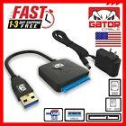 "USB 3.0 to SATA III Hard Drive Adapter Cable 2.5"" 3.5"" SATA SDD HDD 12V 2A Power"