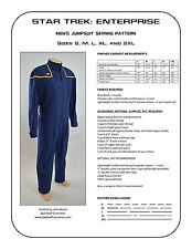 Star Trek Sewing Pattern - Starfleet uniform jumpsuit - Enterprise (men's)