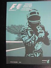 Program Petronas Malaysian Grand Prix 2003 21-23 March Kuala Lumpur (PBE) sealed