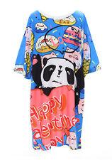 t-60 Amor Panda Bear DONUTS Hielo Azul Multicolor Camiseta pastel goth Lolita