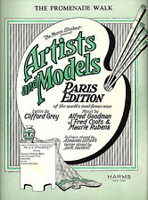"Al Goodman ""ARTISTS and MODELS"" Maurie Rubens / J. Fred Coots 1925 Sheet Music"