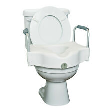 """GRAHAM-FIELD HEALTH 4"""" Toilet Seat Riser with Arms Handrails Toilet Seat Booster"""