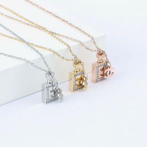 Womens Ladies Rose Gold/Gold/Silver Necklace Sparkling Grace - Her Gifts Fashion