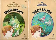 2 x TRIXIE BELDEN pb Books: #18 Phantom Grasshopper #19 & Unseen Treasure Kenny