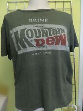 Drink Mountain Dew Soda Pop Cola Vintage/Retro-Style Distressed 50/50 T Shirt M