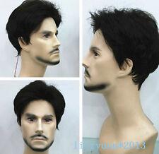 New Black Short Curly Menfolk Man Men Male Daily Wear Hair Wigs+wig cap