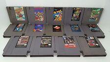 (14) Nintendo NES Game Lot Dr Mario Qbert Tetris Super Mario 2 RCPro AM Commando
