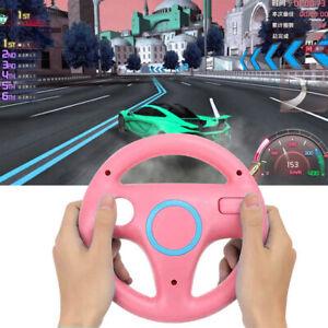 Steering Wheel Mario Kart Racing Game Wheel for Nintendo Wii Controller (Pink)