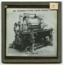 G. Hattersley Ltd. Textile Machinery Keighley UK Advertising Glass Slide # 1