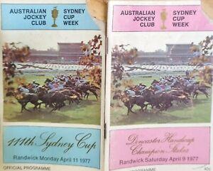 TWO VINTAGE RACE BOOKS - SYDNEY CUP WEEK APRIL 1977 - AUSTRALIAN JOCKEY CLUB