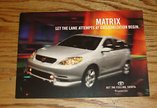 Original 2002 Toyota Matrix Postcard 02