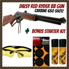 DAISY RED RYDER CARBINE BB GUN KIT WITH GLASSES, TARGETS, 2 PACKS BB'S. 650 SHOT