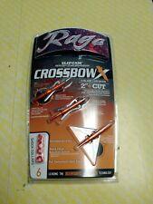 """Rage R53000 Crossbow X Rear Deploying Broadheads 100gr. 2""""cut"""