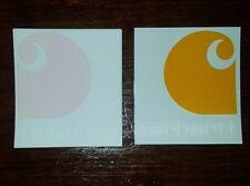 """Clear Inside Window Carhartt Sticker - 3"""" x 2 3/4"""""""