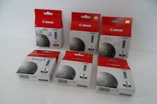 LOT 6 Canon 5 Black Ink Cartridges iP3300 5200 MP520 MX850 PGI-5BK 0628B002 NEW