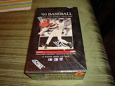 1993 Score Pinnacle Baseball Factory Sealed Box of 36 Packs / 15 Cards Per Pack