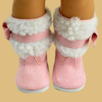 1 Pair Pink Shoes Boots For 18 Inch Doll Clothes Tool Set Gift Supply
