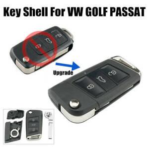 Upgrade 3 Button Flip Key Fob Case Shell For VW Golf 7 MK7 Passat Jetta Caddy