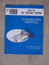 Ford Series 908 60 Inch Rotary Cutter Operator Manual Tractor Maintenance Tool T