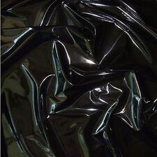 schwarz Lackleder mit Latex-Glanz weiche Meterware für Kleid Rock Dessous Tolko