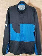 Ashworth Weather Systems Blue & Black Mens Jacket Zip Front Golf Windbreaker Xl