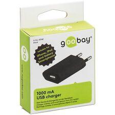 Goobay 43749 Usb-ladegerät 1 0a für Handy und Kleingeräte schwarz