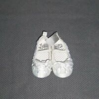 Next Baby Girls White Satin Shoes Size Infant 3 Age 12 - 18months New with tags