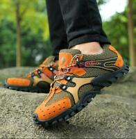 Womens Lace Up Mesh Hiking Shoes Sport Athletic Sneakers Climbing Casual Outdoor