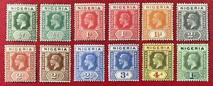 NIGERIA 1914 King George V MLH/NH OG VF See Description for CAT#s (GB-41)