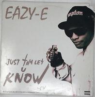 """Eazy E Vinyl Record Just Tah Let U Know Rare Hip Hop 12"""" Original 1995 EX / VG+"""