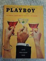 Playboy December 1959 * Good Condition * Free Shipping USA** HAS BAR CARD