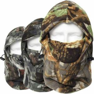 Camo Windproof Fleece Neck Warm Balaclava Ski Full Face Mask for Cold Weather