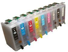 9 Dye Sublimation Ink Refillable Ink Cartridges For Epson Surecolor P600 Non Oem