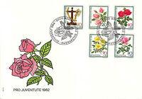 Switzerland  FDC Sc # B492/B496 Pro Juventute 1982 cover with cachet- WW 7260