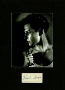 RAMON NOVARRO HOLLYWOOD'S FIRST GAY ICON SIGNED AUTOGRAPH MOUNTED DISPLAY UACC
