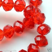 50pcs Crystal Loose Beads 8X10mm Red A29