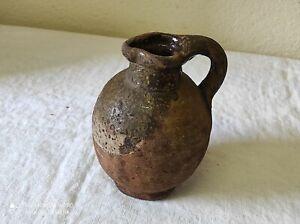 Ancien Pichet, Cruche en terre cuite de 17 cm de haut