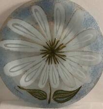 Large Art Glass Plate Daisy Pattern by Higgins