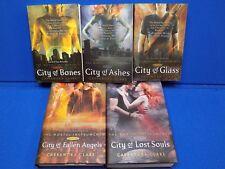 City of Bones Ashes Fallen Angels Glass Lost Souls 1 2 3 4 5 Cassandra Clare Set
