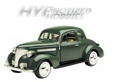 MOTOR MAX 1:24 1939 CHEVROLET COUPE DIE-CAST GREEN 73247