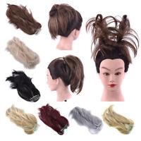 Women Ladies Comb Clip in Ponytail Hair Extensions Synthetic Hairpiece Pony Tail